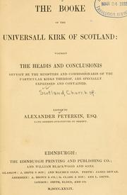 Cover of: The booke of the Universall Kirk of Scotland by Church of Scotland.