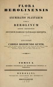 Cover of: Flora Berolinensis | Kunth, Karl Sigismund