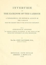 Cover of: Inverurie and the earldom of the Garioch | Davidson, John Rev.
