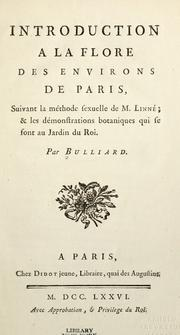 Cover of: Flora Parisiensis by Bulliard, Pierre