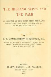 Cover of: The Midland septs and the Pale by Francis Ryan Montgomery Hitchcock
