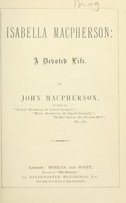 Cover of: Isabella Macpherson | John Macpherson of Dundee
