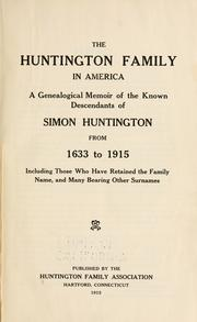Cover of: The Huntington family in America | Huntington Family Association