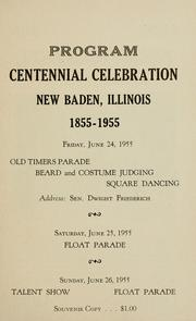 Cover of: New Baden centennial, 1855-1955 | Charlene Peters