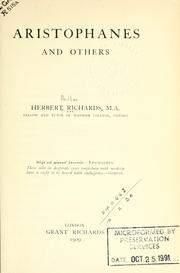 Cover of: Aristophanes and others | Richards, Herbert
