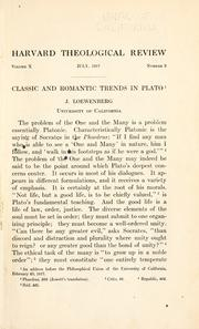 Cover of: Classic and romantic trends in Plato | Loewenberg, J.