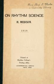 Cover of: On rhythm science | H. Medison