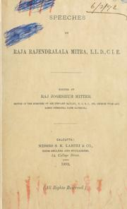 Cover of: Speeches by Mitra, R©Æajendral©Æala Raja