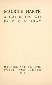 Cover of: Maurice Harte | T. C MURRAY