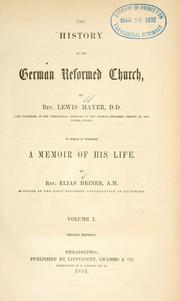 Cover of: History of the German Reformed Church | Mayer, Lewis