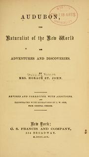 Cover of: Audubon, the naturalist of the New world by St. John, Horace Stebbing Roscoe Mrs.