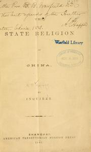 Cover of: The state religion of China | Andrew Patton Happer