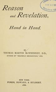 Cover of: Reason and revelation, hand in hand | Thomas M. McWhinney