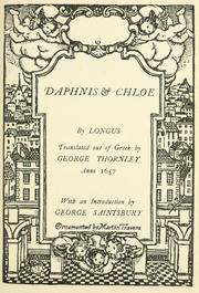 Cover of: Daphnis & Chloe | Longus