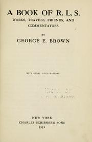 Cover of: A book of R. L. S by Brown, George E.