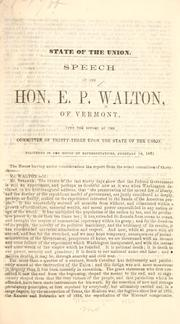 Cover of: State of the Union | E. P. Walton