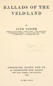Cover of: Ballads of the Veld-land | Lynn Lyster