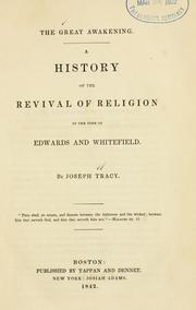 Cover of: The great awakening by Tracy, Joseph