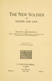 Cover of: The new soldier | Henryk Sienkiewicz