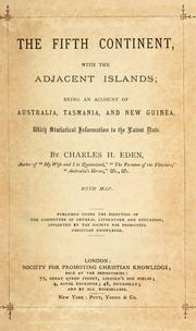 Cover of: The fifth continent, with the adjacent islands | Charles H. Eden