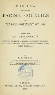 Cover of: The law relating to parish councils | Austin Fleeming Jenkin