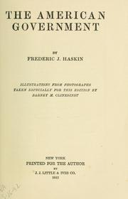 Cover of: The American government | Haskin, Frederick Jennings