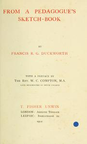 Cover of: From a pedagogue's sketch-book | Duckworth, Francis Robinson Gladstone.