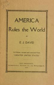 Cover of: America rules the world | Etienne Joseph David