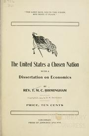 Cover of: The United States a chosen nation | Thomas M. C Birmingham