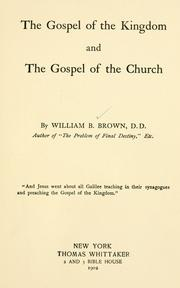 The Gospel of the Kingdom and the Gospel of the Church