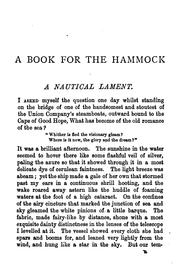 Cover of: A book for the hammock | William Clark Russell