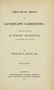 Cover of: Practical hints upon landscape gardening | William Sawrey Gilpin