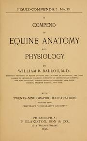 Cover of: A compend of equine anatomy and physiology | William R. Ballou