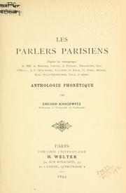 Cover of: Les parlers parisiens by Eduard Koschwitz