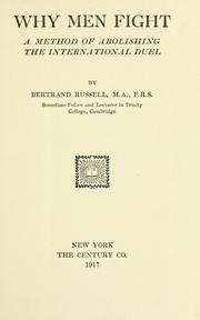 Cover of: Principles of social reconstruction by Bertrand Russell