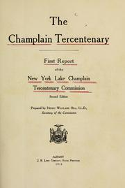 Cover of: The Champlain tercentenary | New York (State). Lake Champlain tercentenary commission.