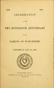 Cover of: 1684. 1884 | Worcester (Mass.)