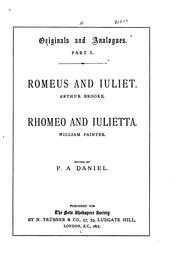 Cover of: Romeus and Iuliet | Arthur Brooke