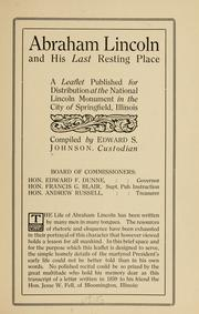 Cover of: Abraham Lincoln and his last resting place by Johnson, Edward S.
