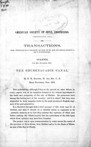 Cover of: The Shubenacadie Canal by Keating, E. H.