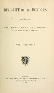 Cover of: Bird-life of the borders by Abel Chapman