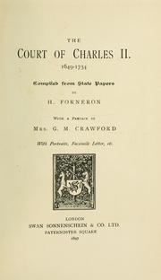 Cover of: The court of Charles II, 1649-1734 by H. Forneron