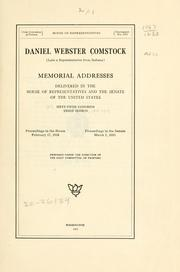 Cover of: Daniel Webster Comstock (late a representative from Indiana) | United States. 65th Congress, 2d session, 1918-1919