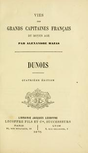 Cover of: Dunois by Alexandre Mazas