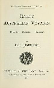 Cover of: Early Australian voyages by Pinkerton, John
