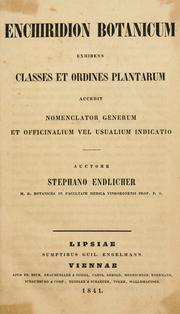 Cover of: Enchiridion botanicum | Stephan Friedrich Ladislaus Endlicher