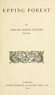 Cover of: Epping Forest by Edward North Buxton