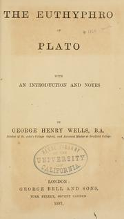 Cover of: The Euthyphro of Plato by Plato
