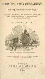 Cover of: Footsteps of our forefathers by James Goodeve Miall