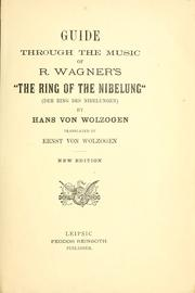 "Cover of: Guide through the music of R. Wagner's ""The ring of the Nibelung"" (Der Ring des Nibelungen) by Hans von Wolzogen"